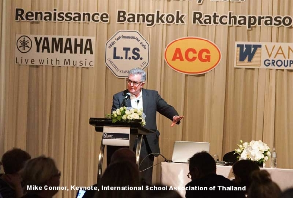 Mike Connor, Keynote, International School Association of Thailand