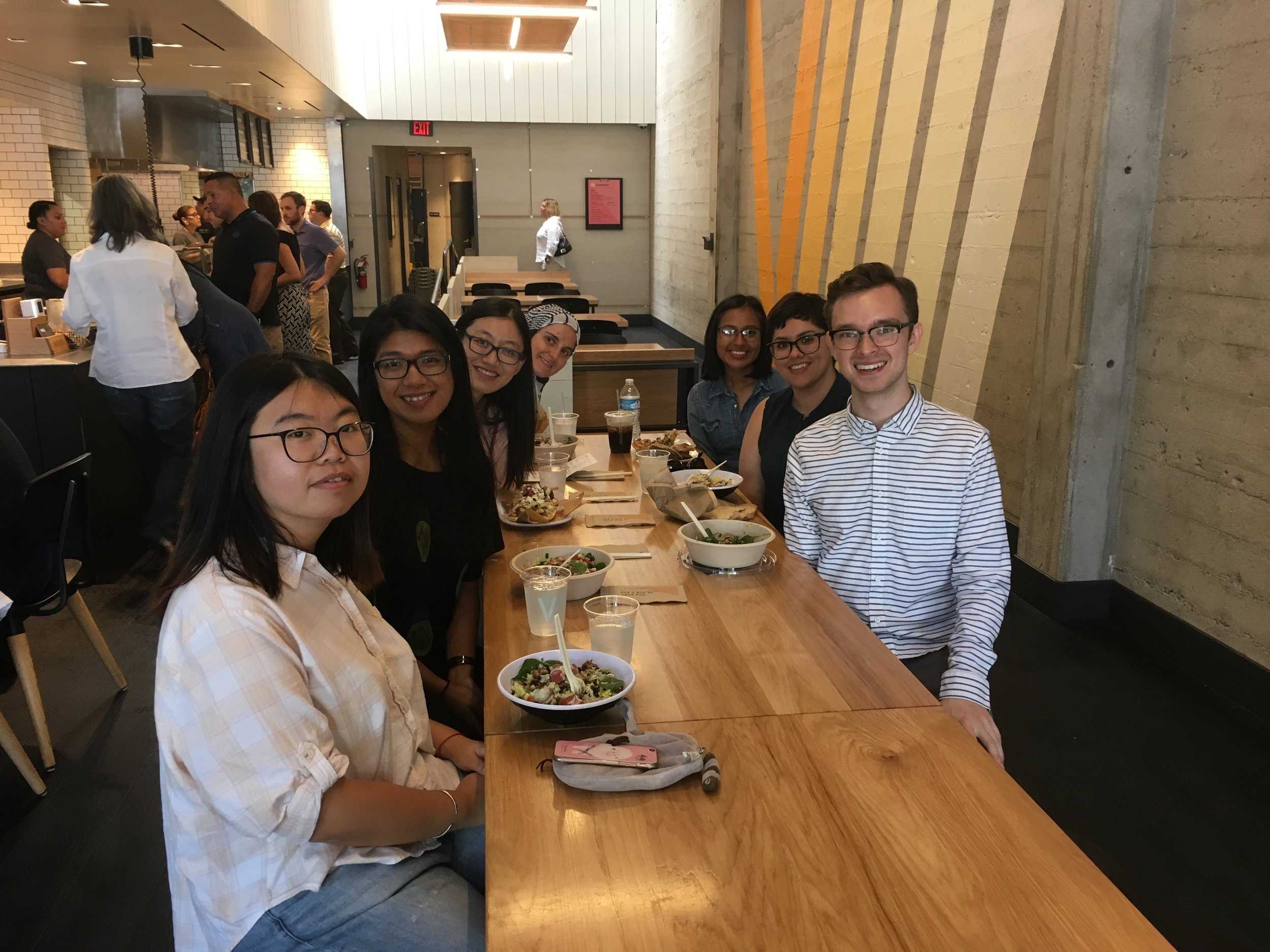 Welcome lunch for the rotation students @ Cava, Aug 11, 2017
