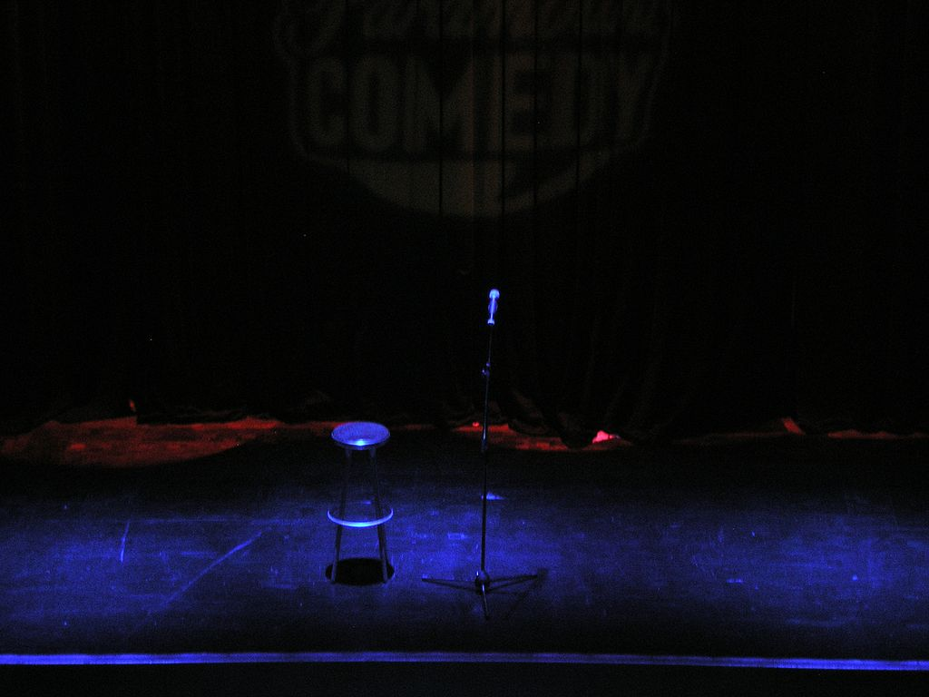 Stand-up stage  Photo credit: Carlos Delgado https://commons.wikimedia.org/wiki/File:Stand-up_comedy_-_Stage.jpg