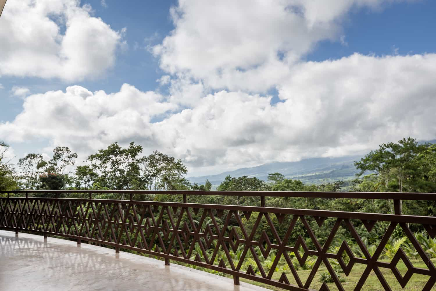 Standing on the Aracari Terrace at the Springs Resort with a great view.
