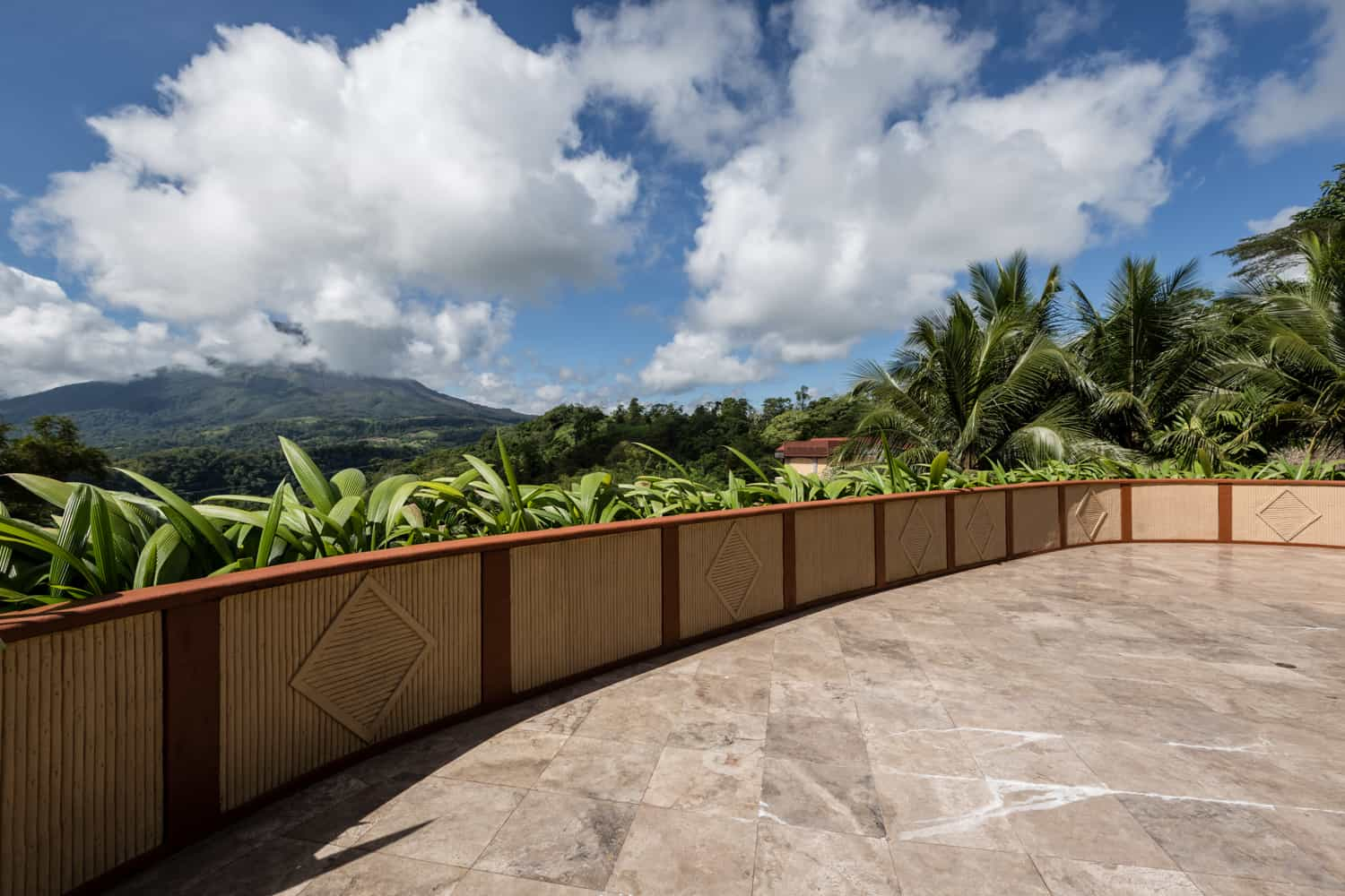 Side view of the Sunset Terrace for your Arenal wedding.