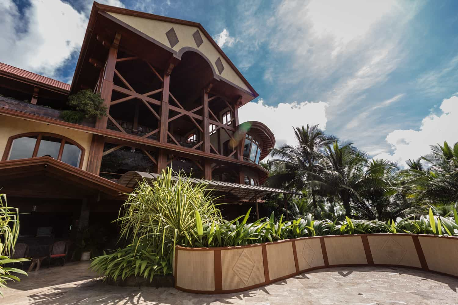 A view from the Sunset Terrace at The Springs Resort of the Reception Building.