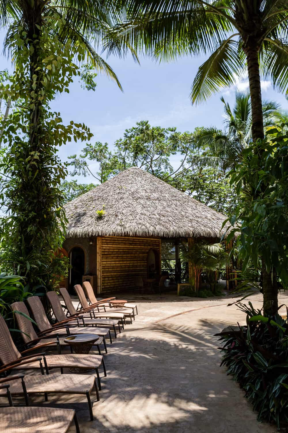 The hut at Treetops is the covered area for this wedding location at The Springs Resort.