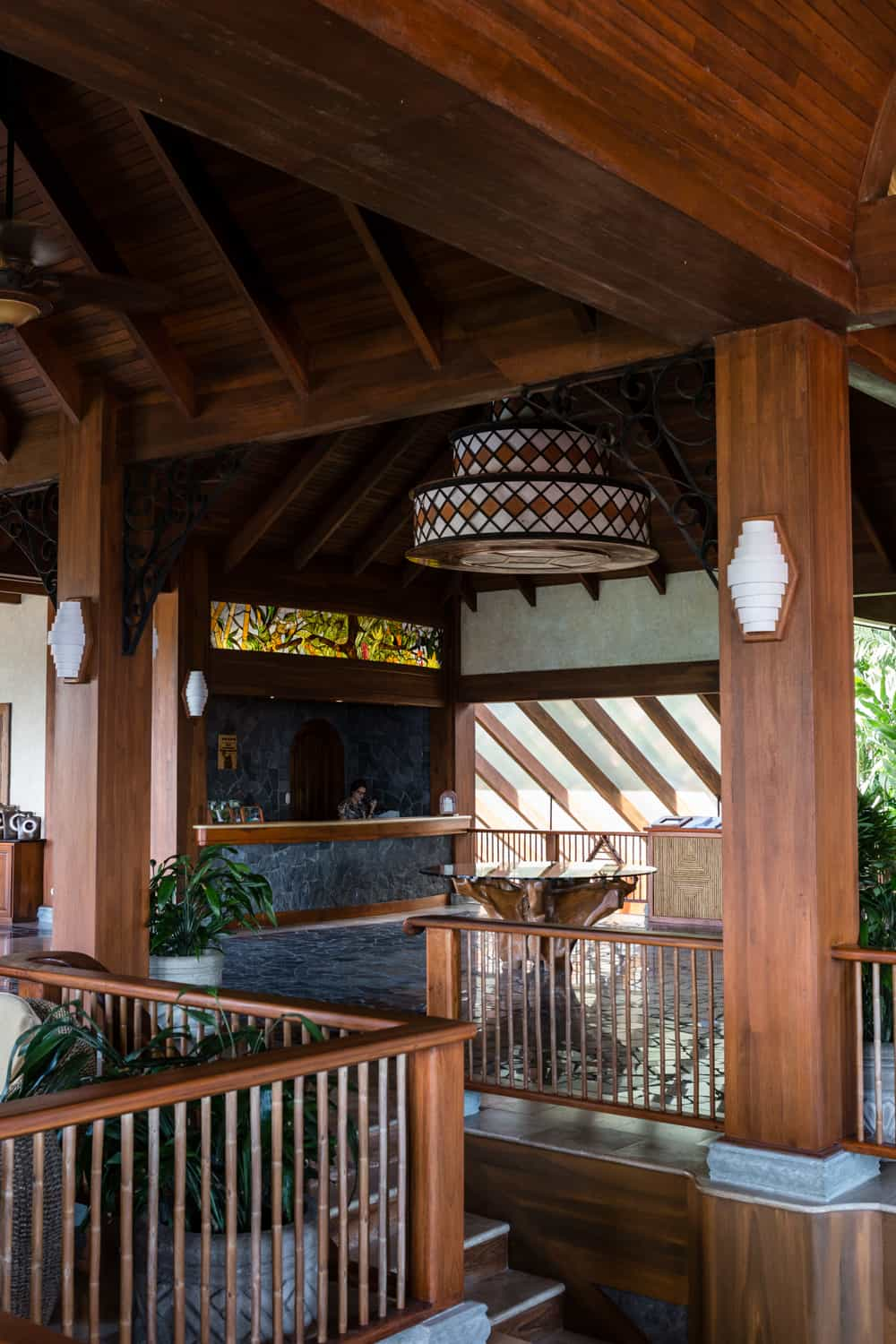 Reception area at the Springs Resort in Arenal.