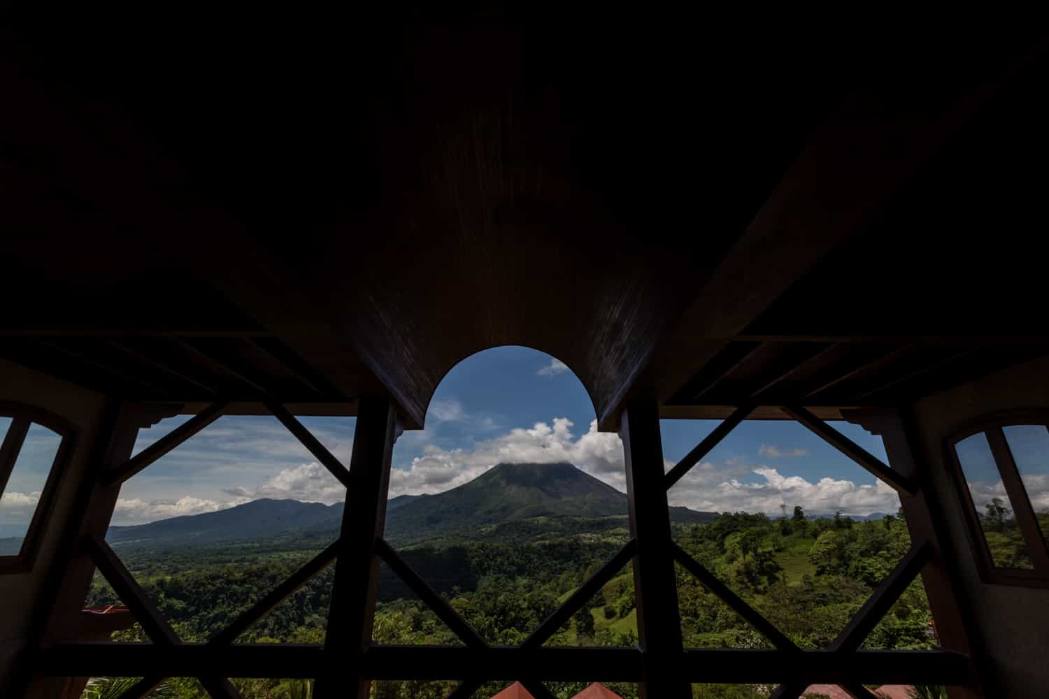 Amazing view of the Arenal Volcano from Reception Building.