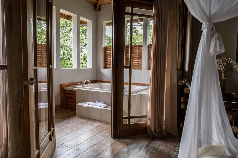 Honeymoon Suite's open-air jacuzzi in Lost Iguana's Honeymoon Suite.