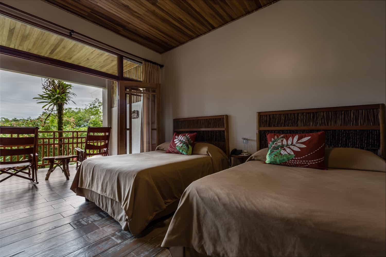Wedding guest accommodations at Lost Iguana, La Fortuna.