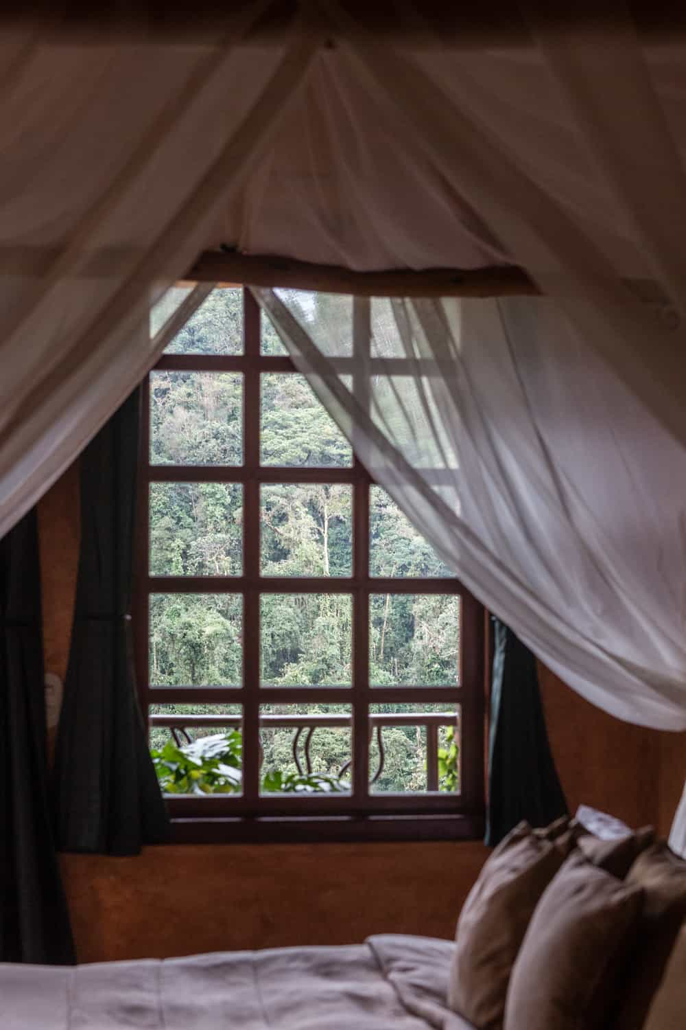 See the cloud forest and Poas Volcano from your luxury honeymoon suite canopy bed.
