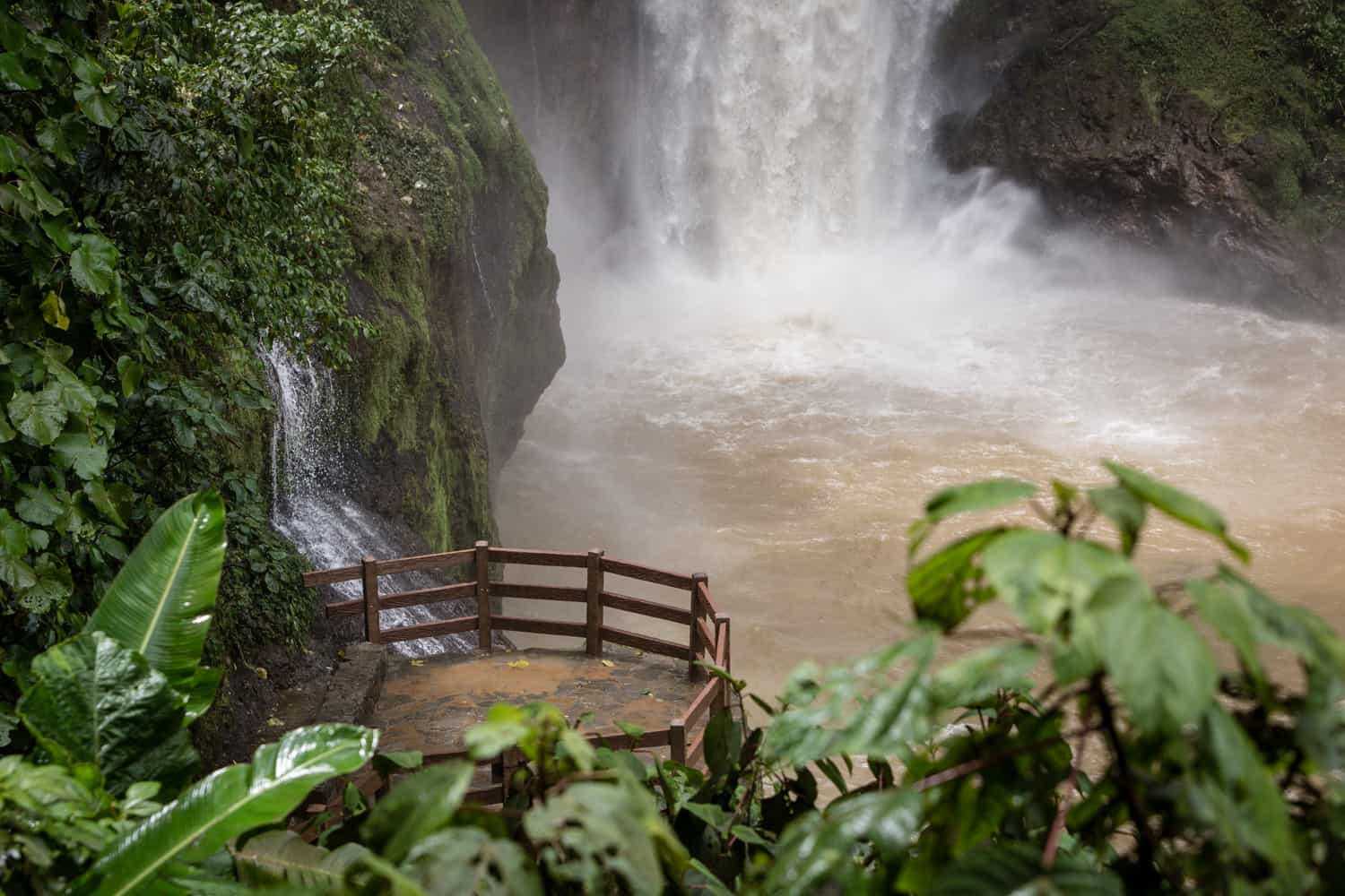 Beautiful location for Costa Rica waterfall wedding on terrace in cloud forest in Poas.