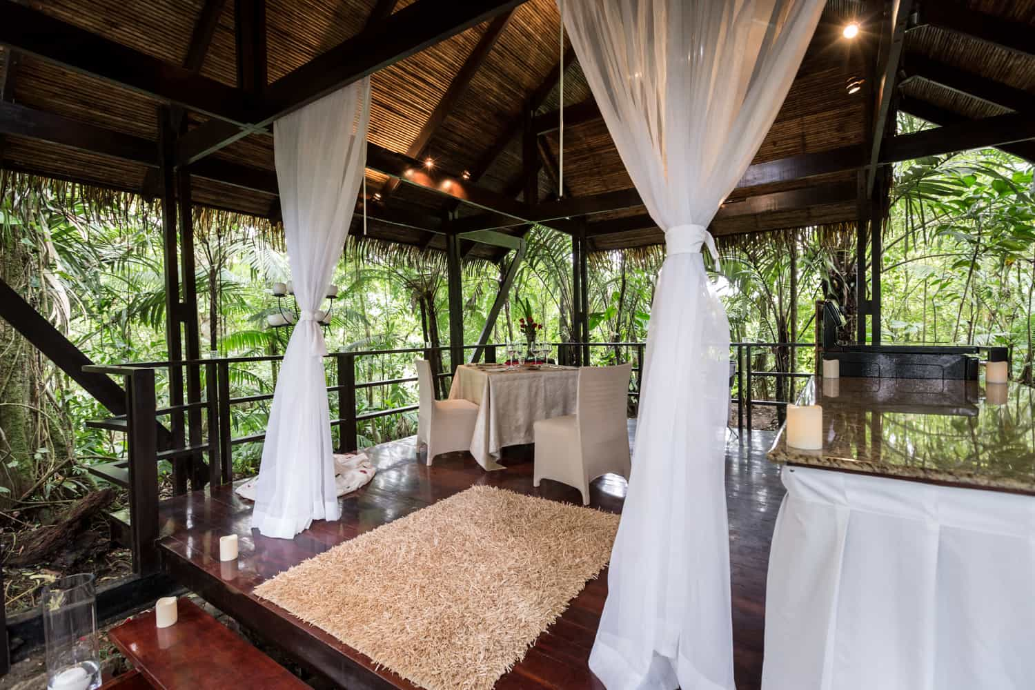 Location for romantic couples dinner and wedding ceremony.
