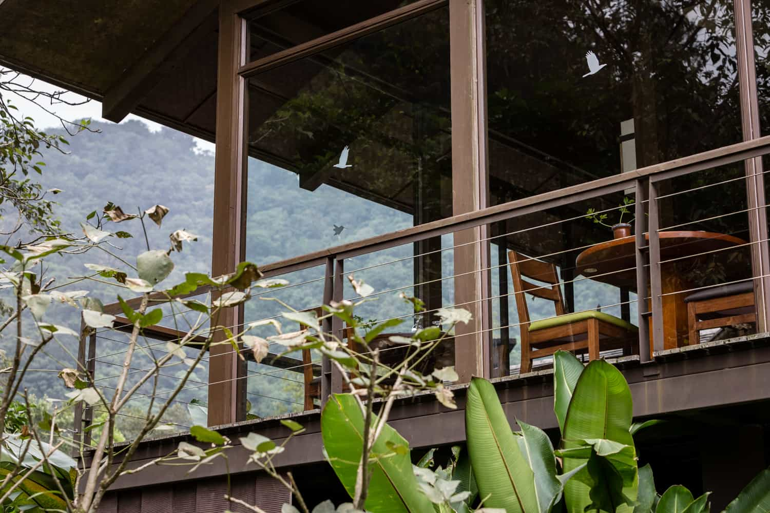 Outside view of restaurant for wedding receptions at El Silencio Lodge.