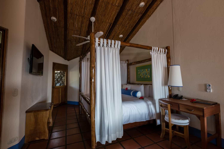 Canopy bed in Hotel Punta Islita's Honeymoon Suite.