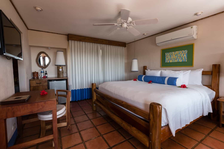 Bedroom area in Hotel Punta Islita's deluxe room.
