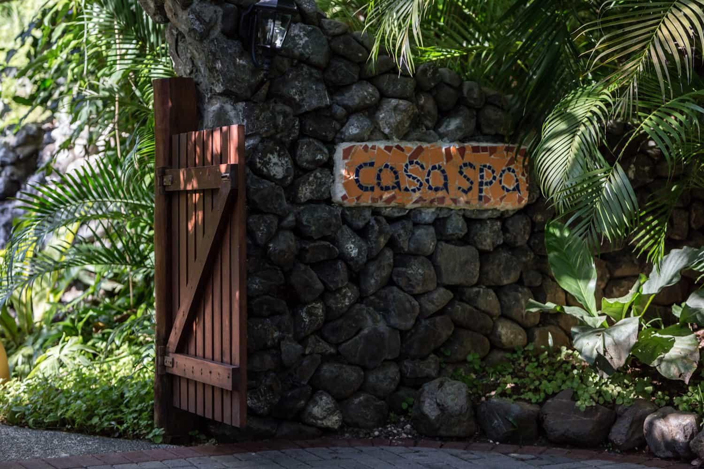 Entrance to Casa Spa, Hotel Punta Islita's world-class spa.