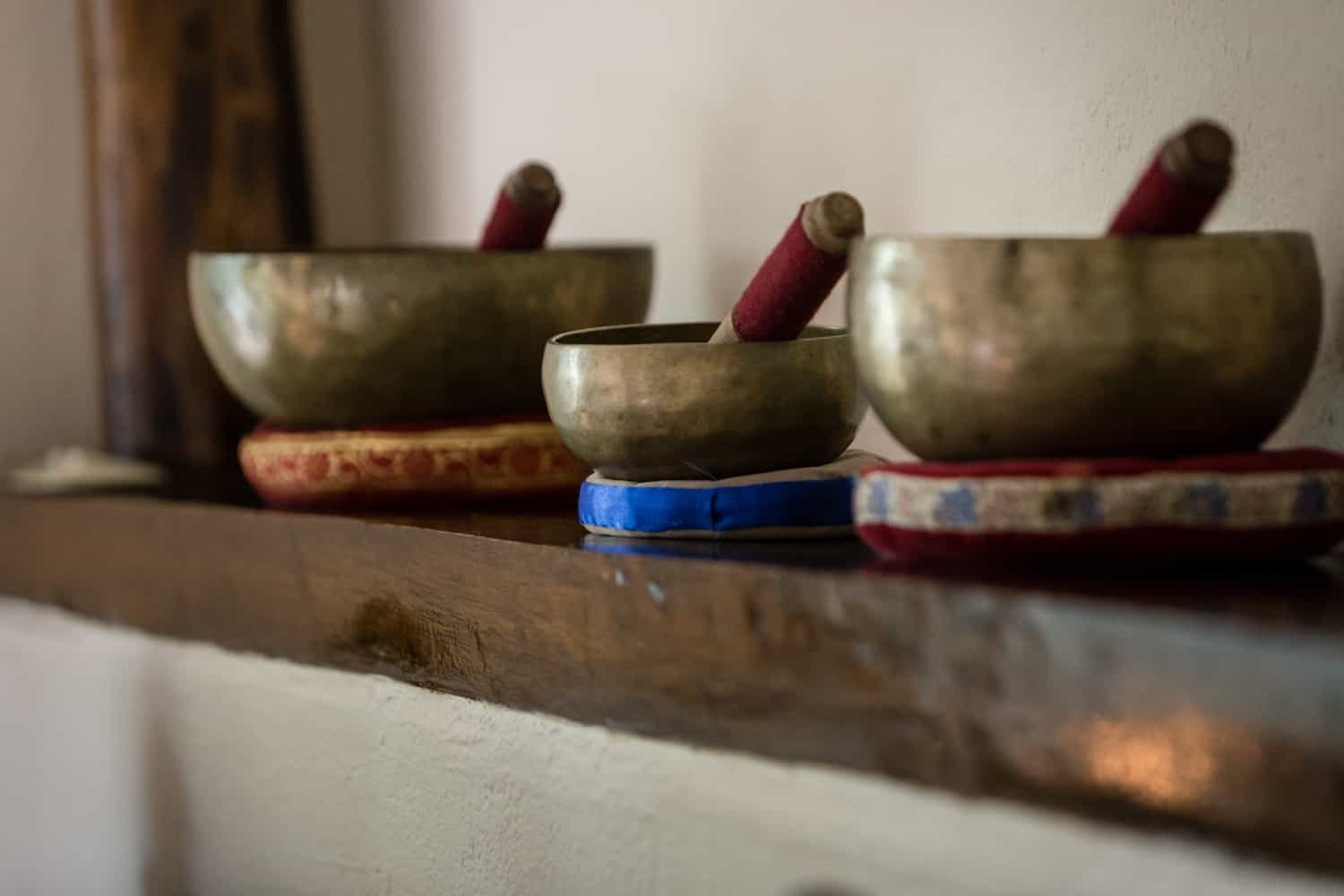 Mixing bowls for special spa treatments for couples.