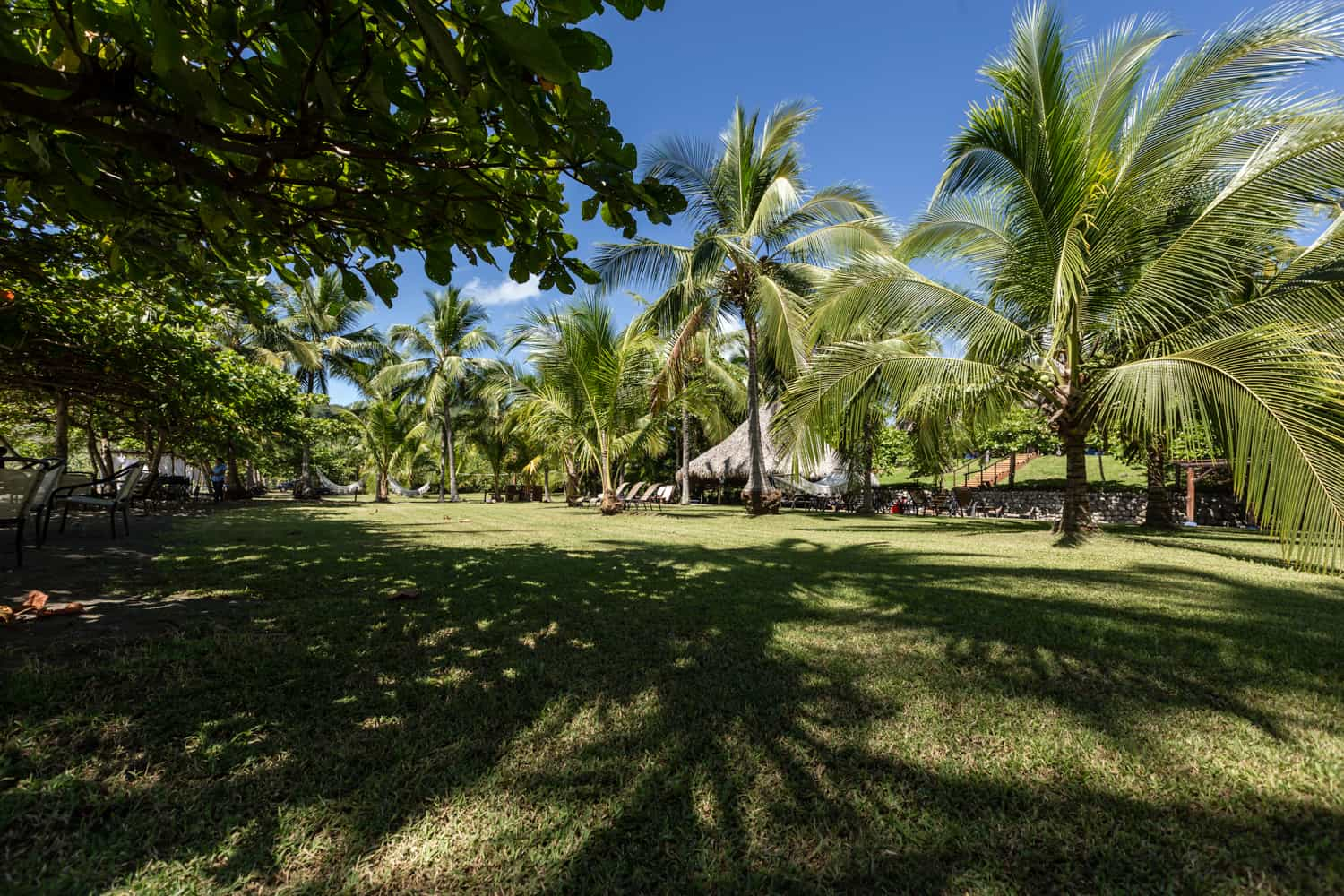 Beachfront lawn location for receptions and ceremonies.