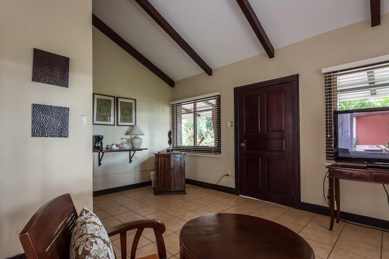 Socializing area in great Guanacaste honeymoon suite.