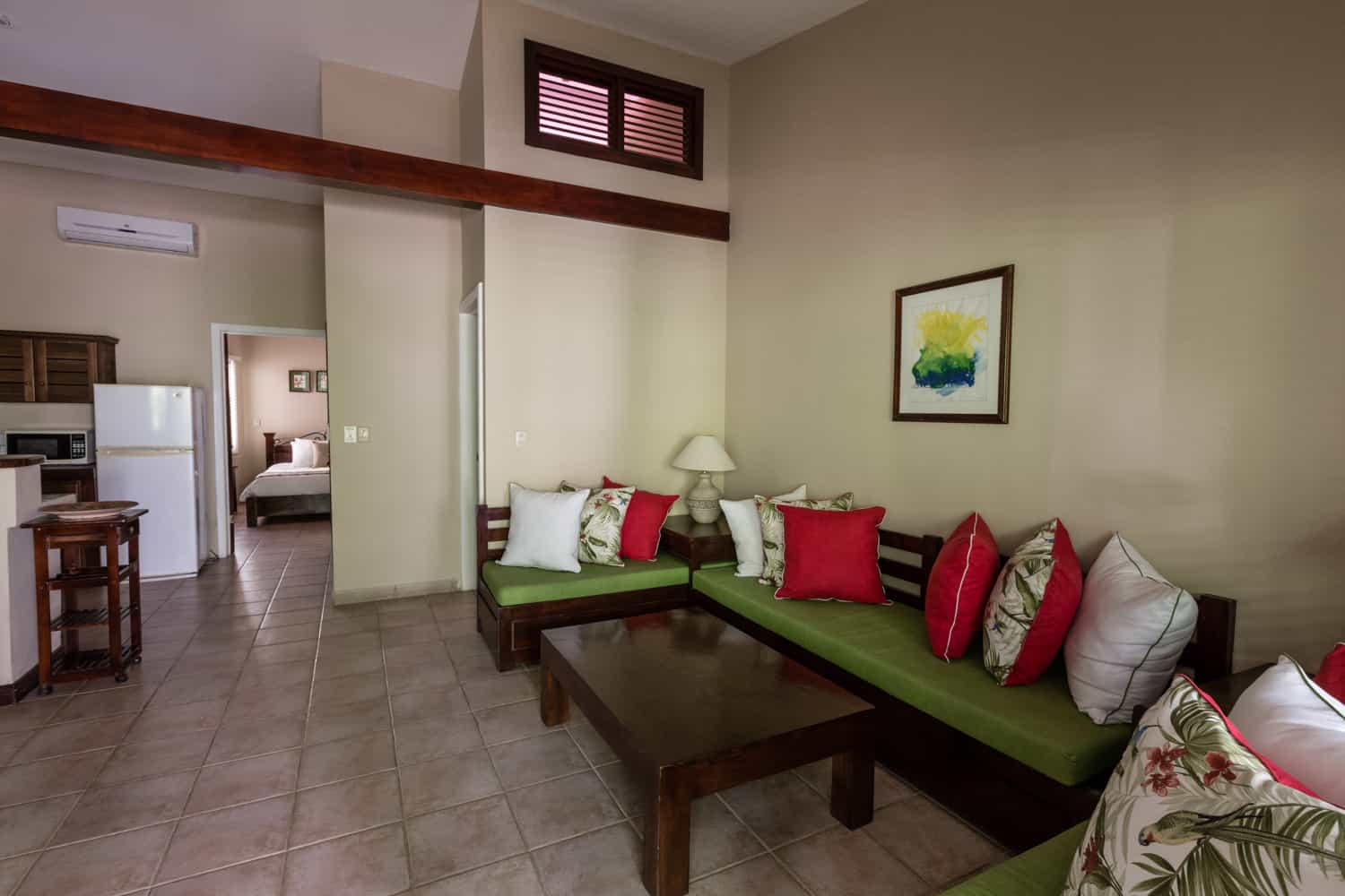 View of spacious suite for your wedding guests at Bahia del Sol Hotel.