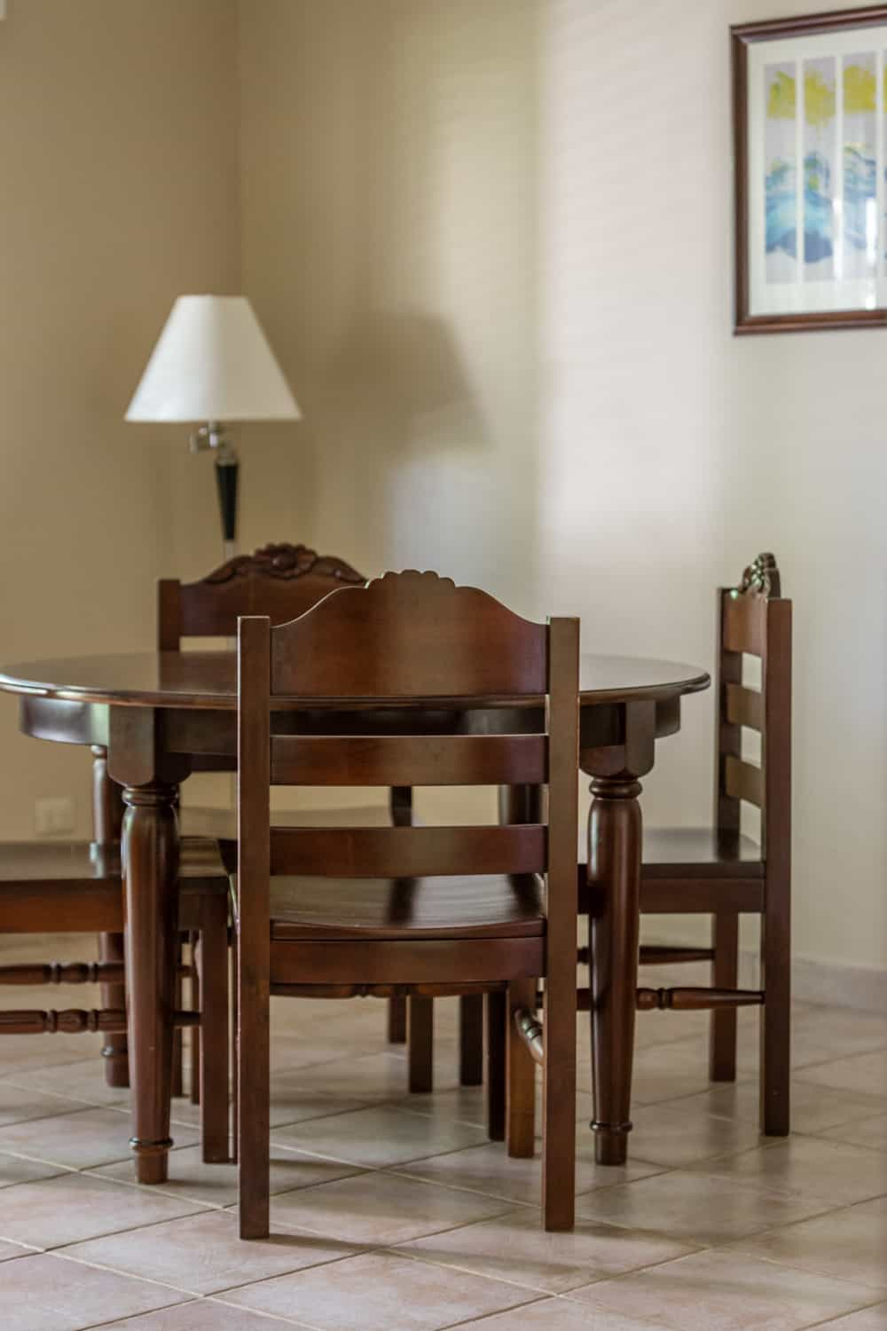 Kitchen table in Bahia del Sol's suite for wedding day guests.
