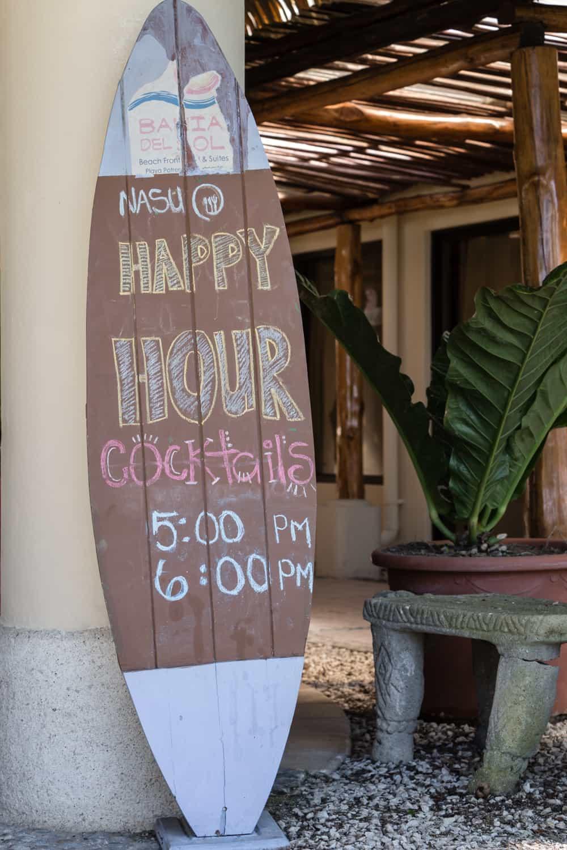 Enjoy happy hour at Nasu restaurant in Guanacaste.