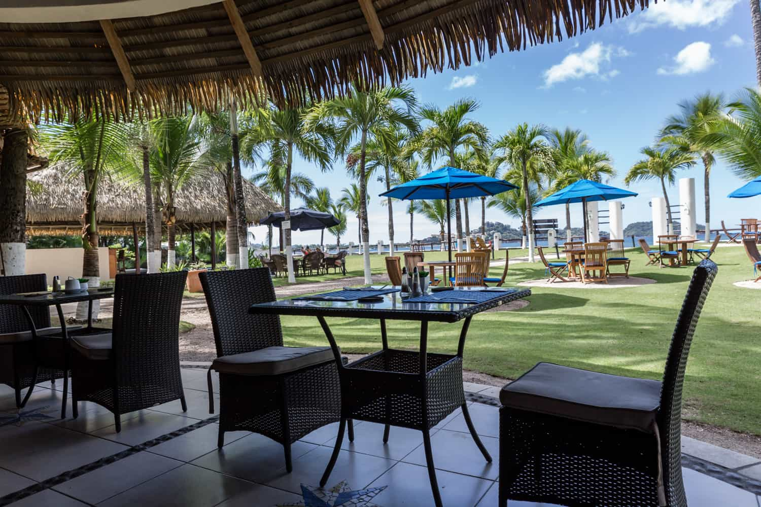 Enjoy great beach views at restaurant before and after your wedding day.