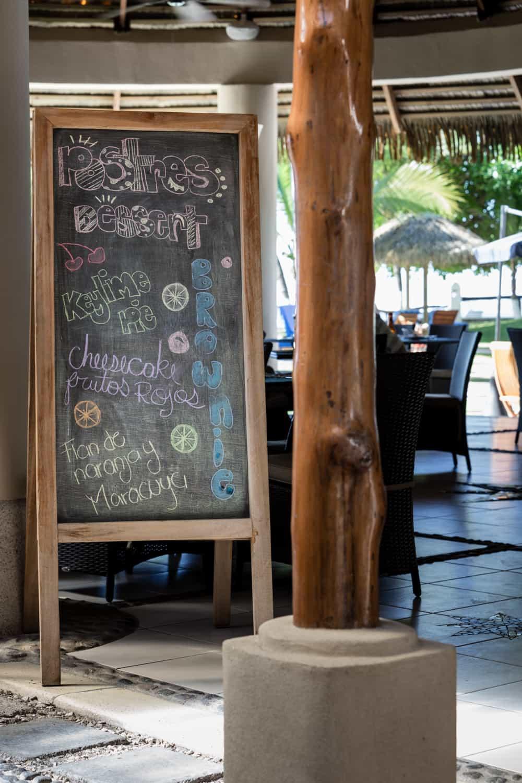 Entrance to Bahia del Sol's beachfront restaurant.
