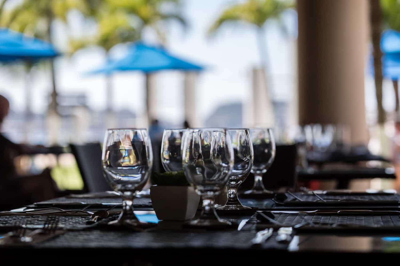 Photo of beach from Bahia del Sol Hotel's restaurant.