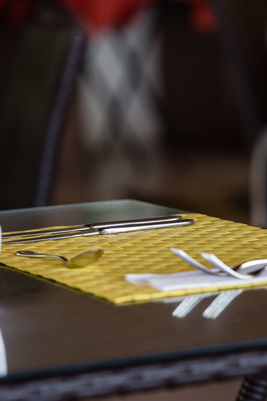 Table at restaurant at Bahia del Sol in Guanacaste.