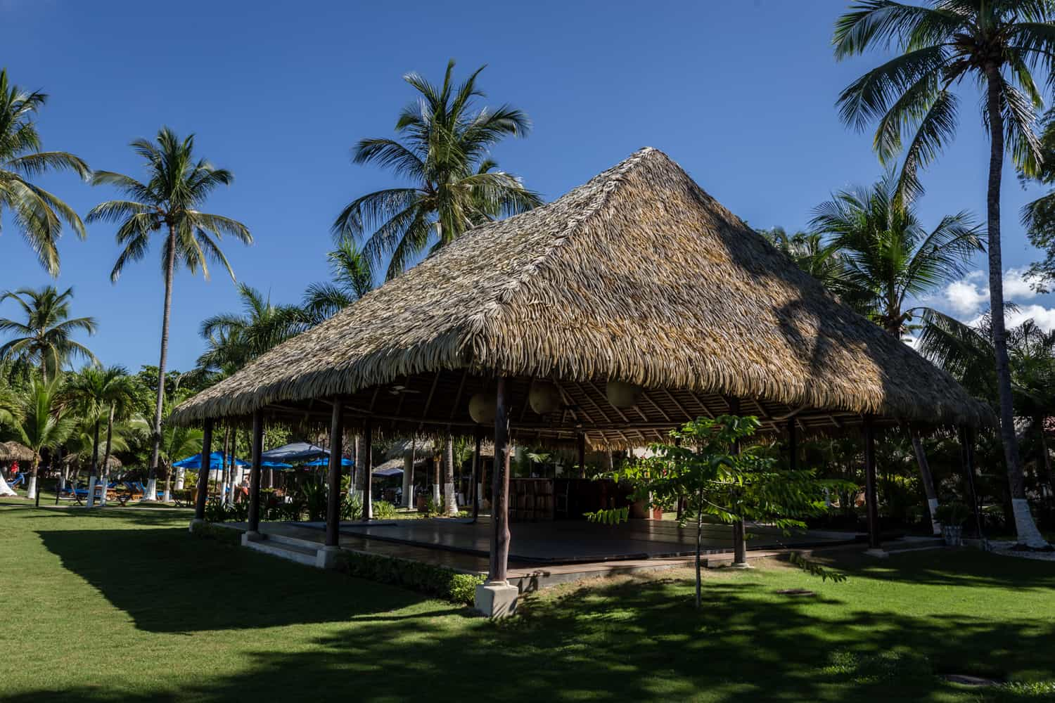 Beachfront pavilion for wedding day events at Bahia del Sol Hotel.