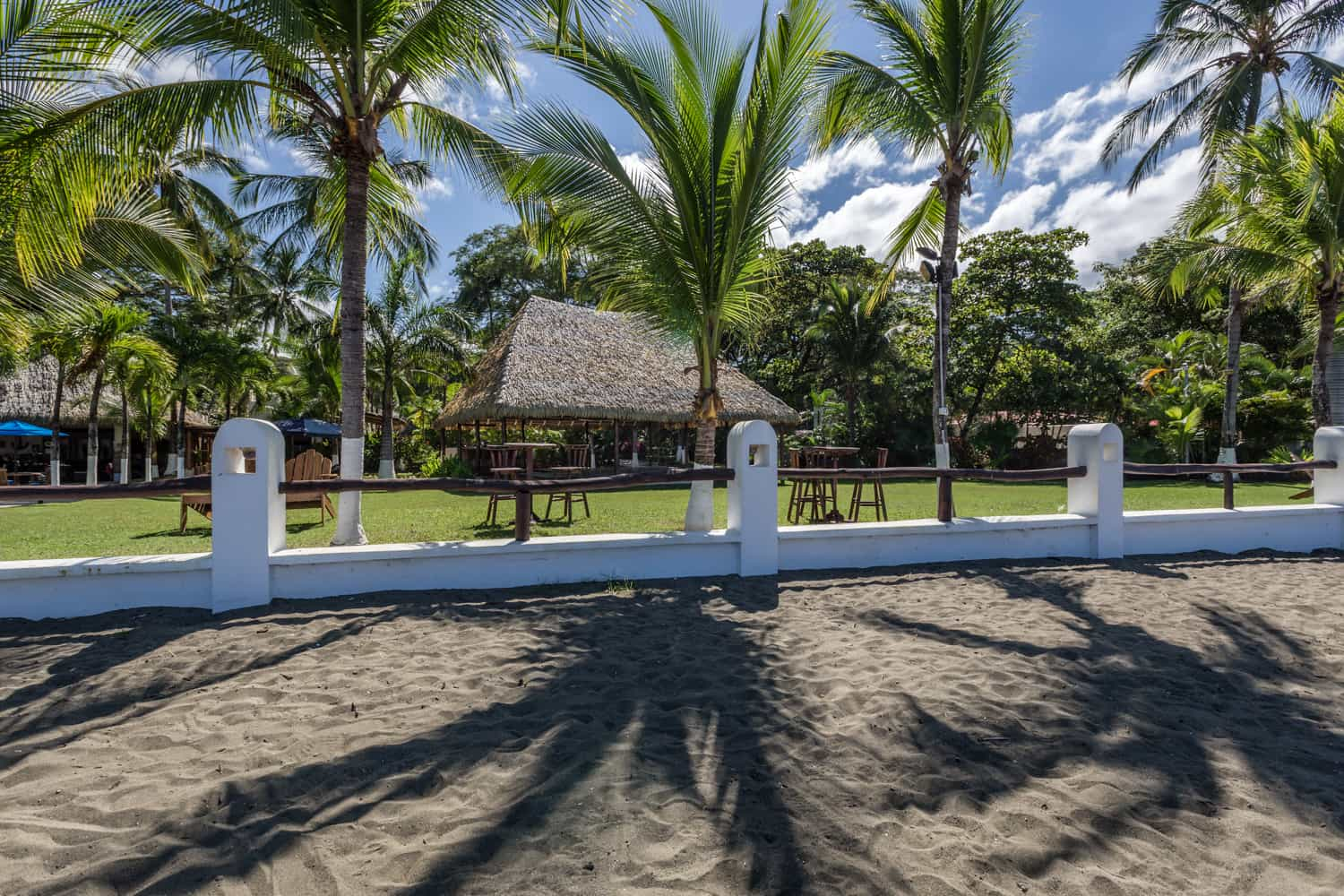 View of pavilion for wedding receptions in Guanacaste.