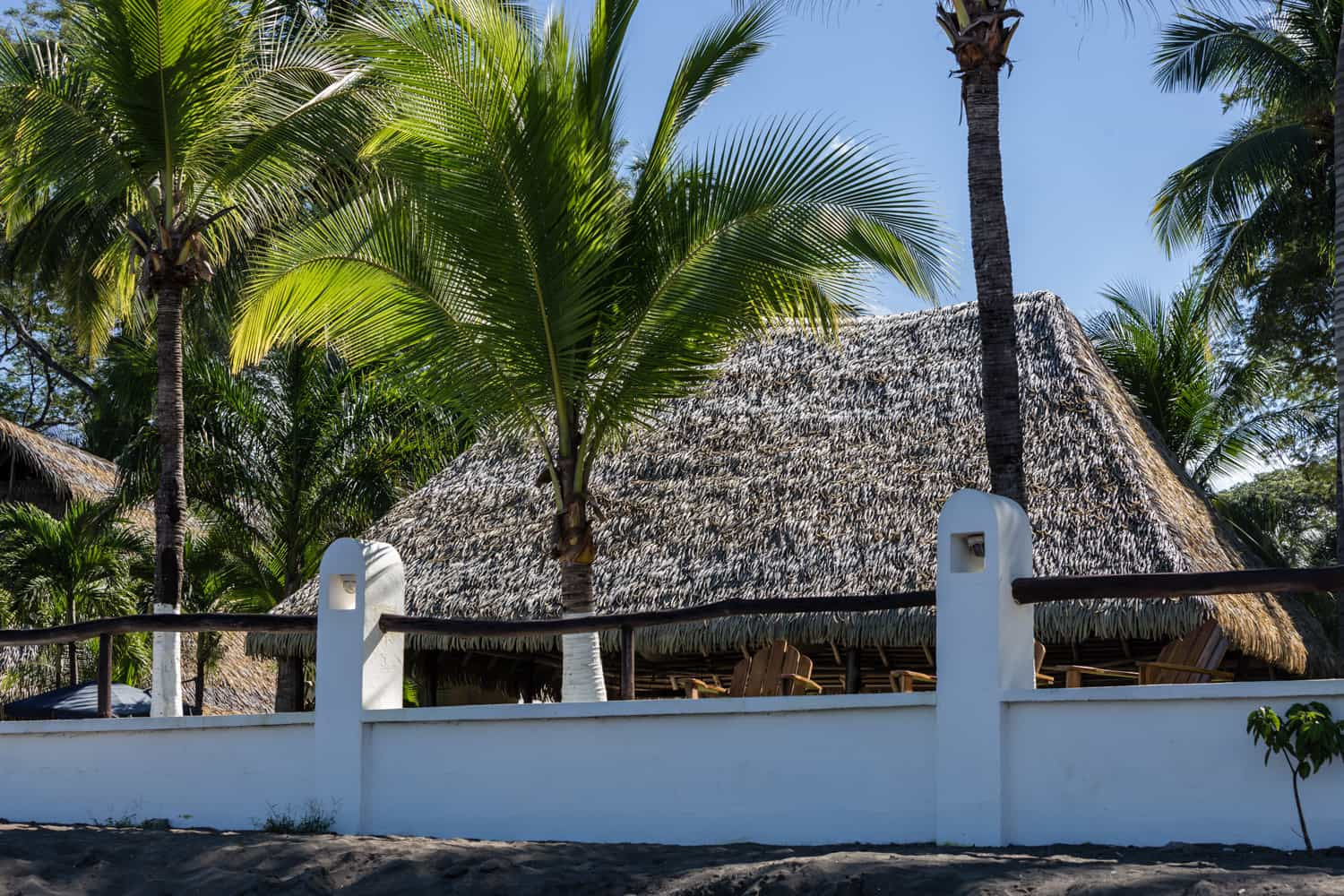 Wood pavilion at Bahia del Sol Hotel is great place for beach wedding reception.