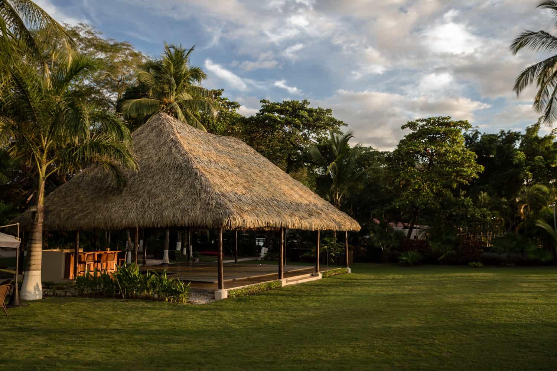 Photo of beach wedding venue at sunset in Guanacaste.