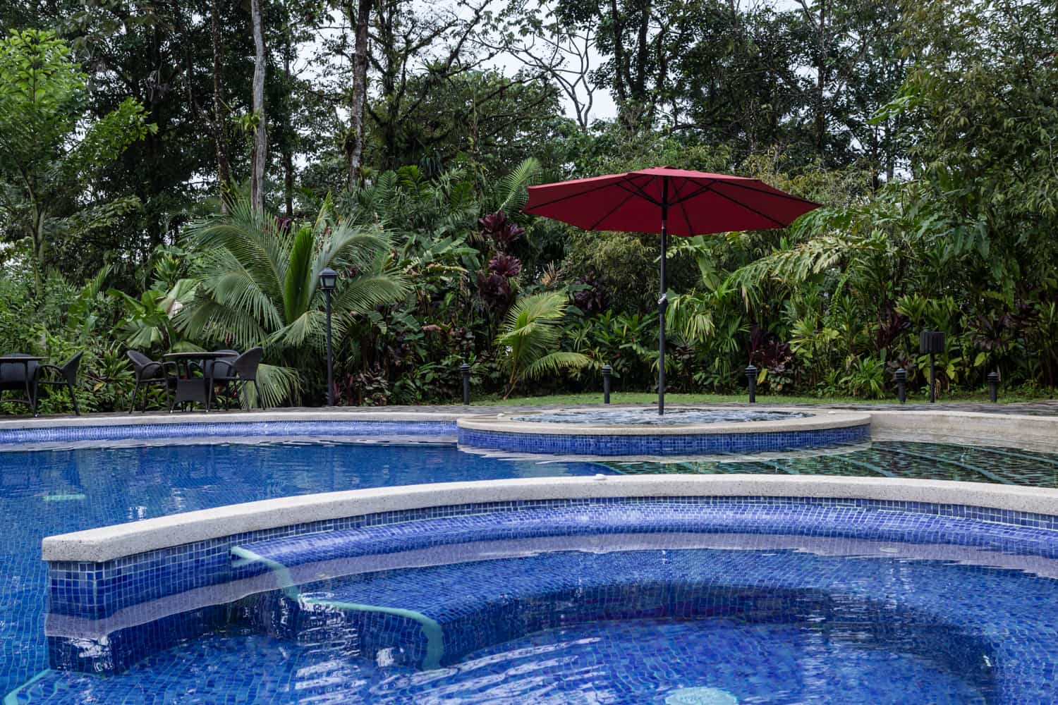 Beautiful large pool at Rio Celeste Hideaway Hotel.