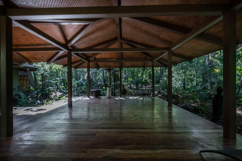 Wedding ceremony and reception site at El Silencio Lodge.