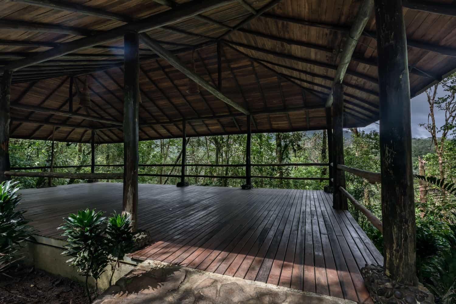 Rainforest wedding location at Rio Celeste Hideaway Hotel.