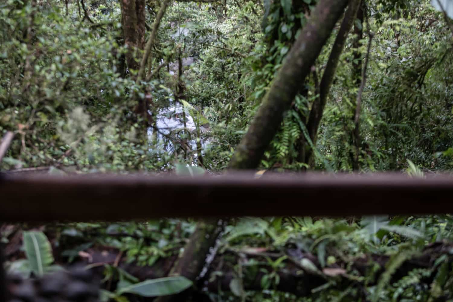 Photo of river from wedding site at Rio Celeste Hideaway Hotel in Costa Rica.