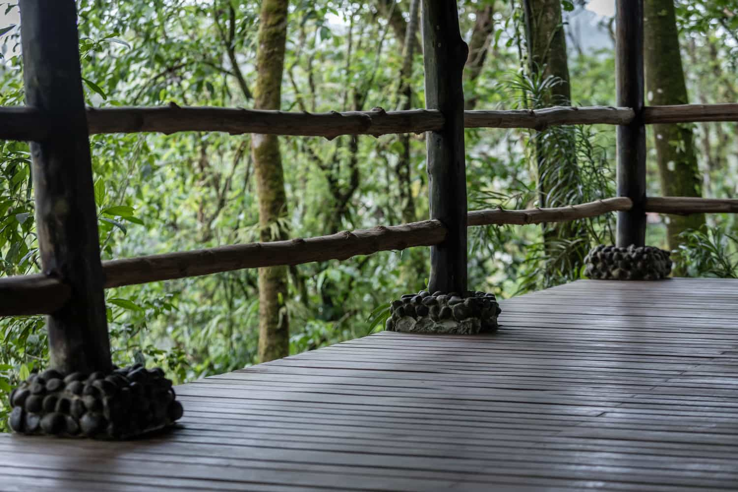 Great place for wedding in Costa Rica at rainforest pavilion at Rio Celeste Hideaway Hotel.