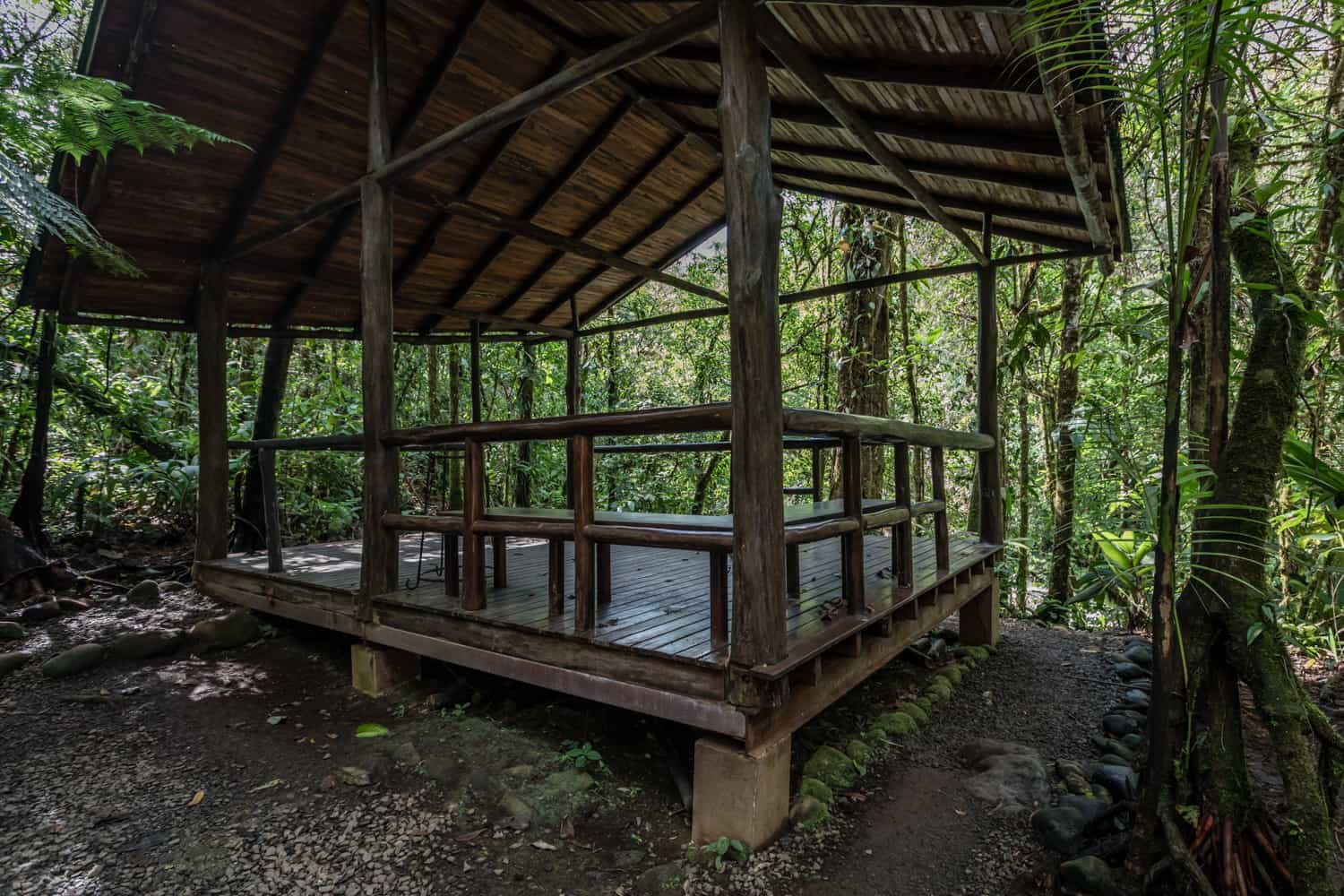Site at Rio Celeste Hideaway Hotel for private wedding by river.