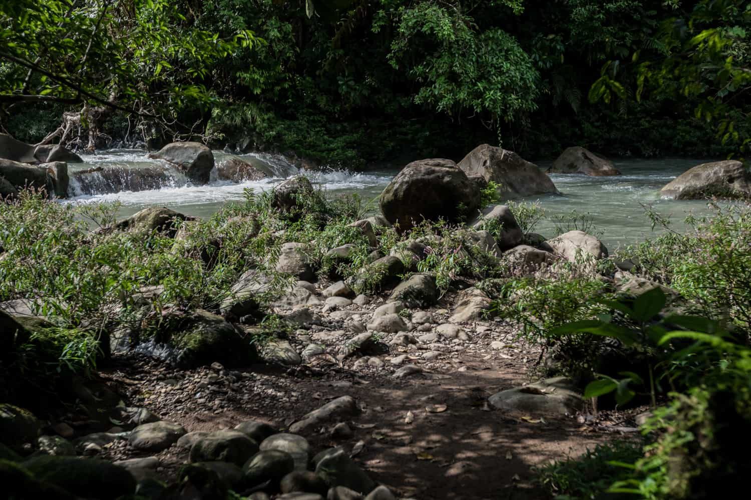 Great place by river for intimate wedding in Costa Rica at Rio Celeste Hideaway Hotel.