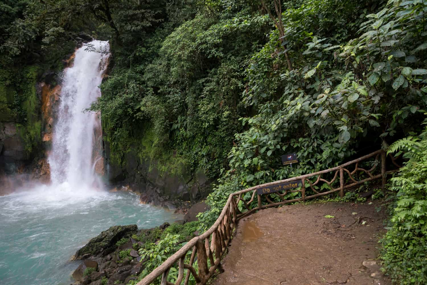 Terrace for weddings at Rio Celeste Waterfall with great views.