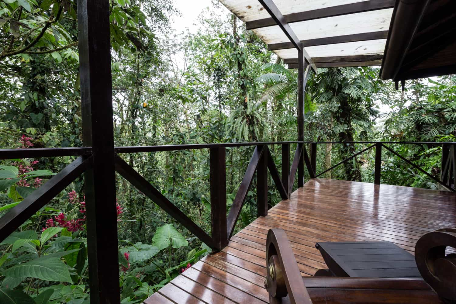 Site at Rio Celeste Hideaway Hotel for private rainforest wedding.