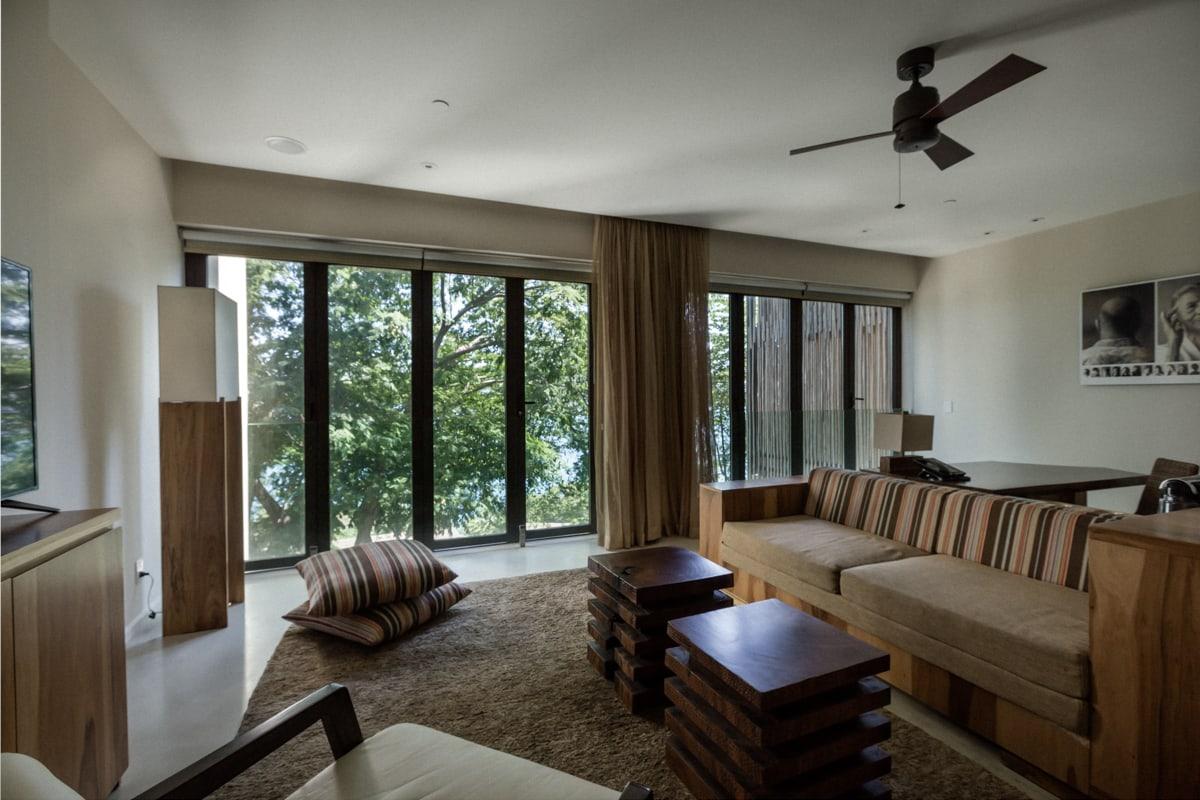 Living room in Andaz's honeymoon suite.