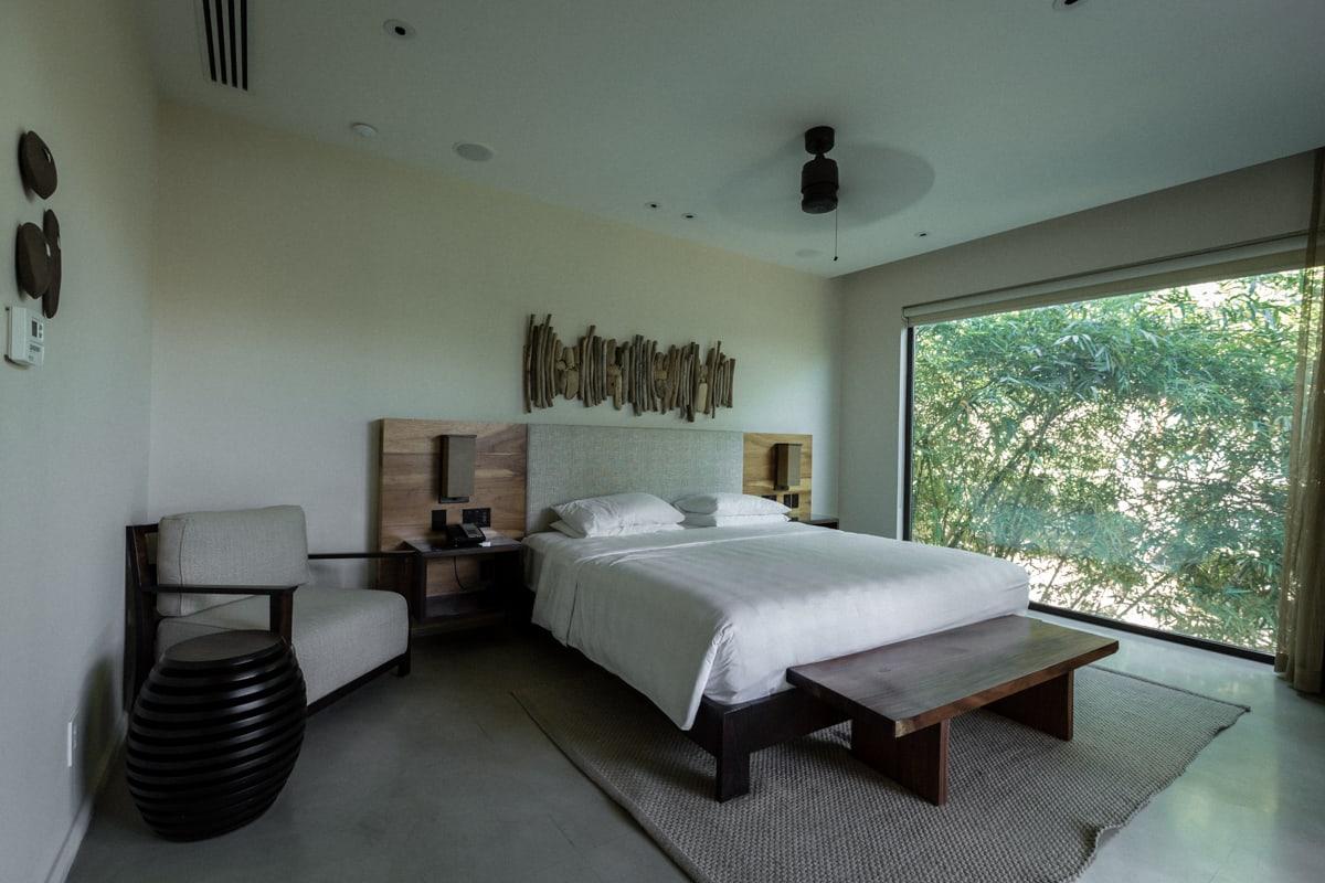 Honeymoon suite's bedroom with amazing views.