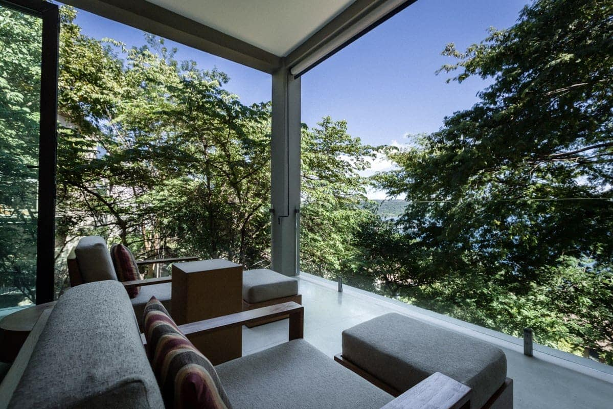 Balcony in Andaz Resort honeymoon suite with amazing views.