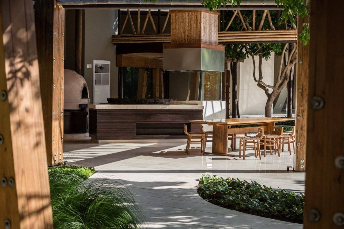 Central area at Andaz's Patio for wedding receptions.