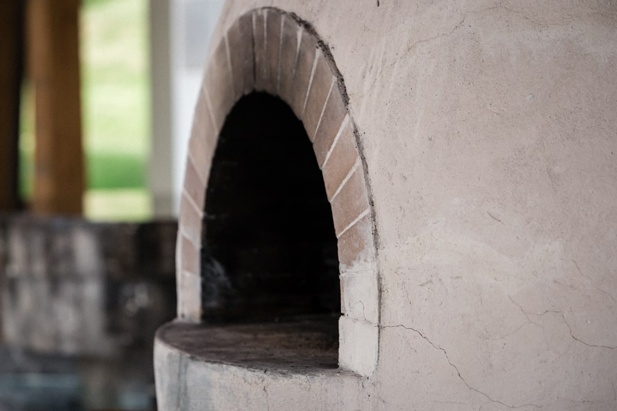 Stone oven for preparing dinners for wedding receptions at Andaz Resort.