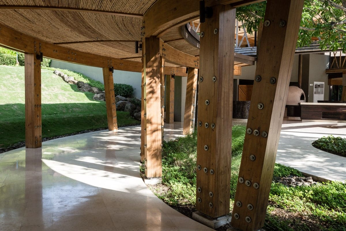 Gorgeous walkway leading to one of Andaz's wedding reception site, The Patio.