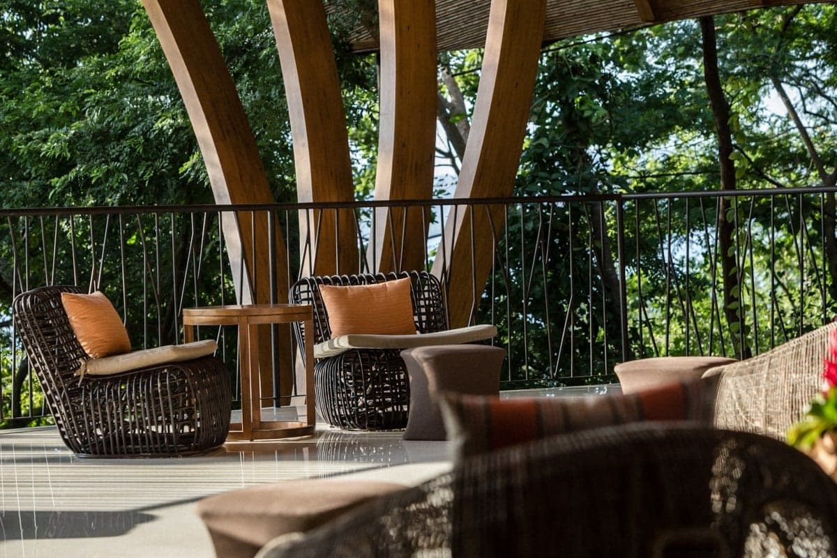 Views of rainforest from Andaz Lounge, a great place for wedding ceremonies.