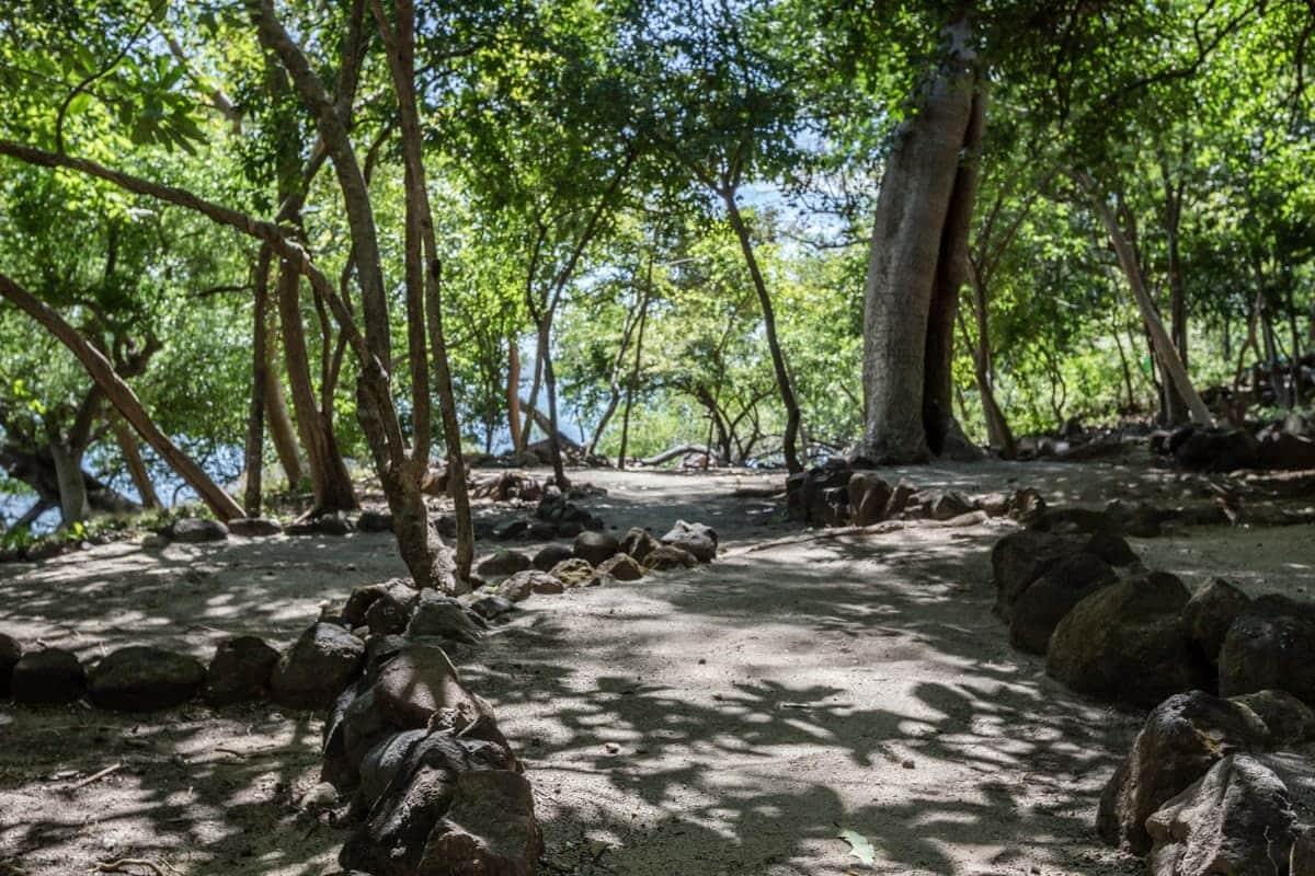 Path between beaches at Andaz Resort.