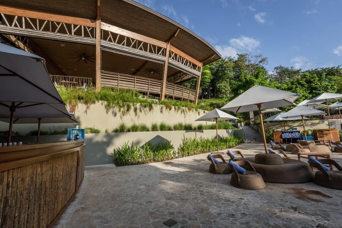Photo of Rio Bongo wedding reception area from pool area.